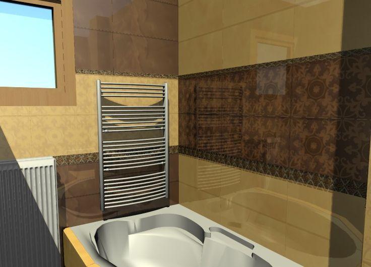 Fürdőszoba burkolati terve
