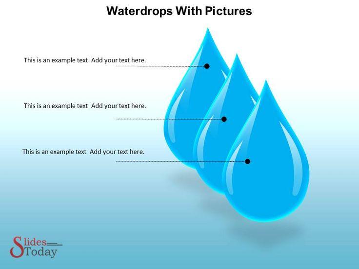 Waterdrops Powerpoint Background