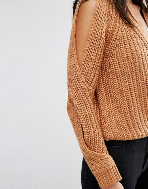 River Island | River Island Chunky Cold Shoulder Sweater