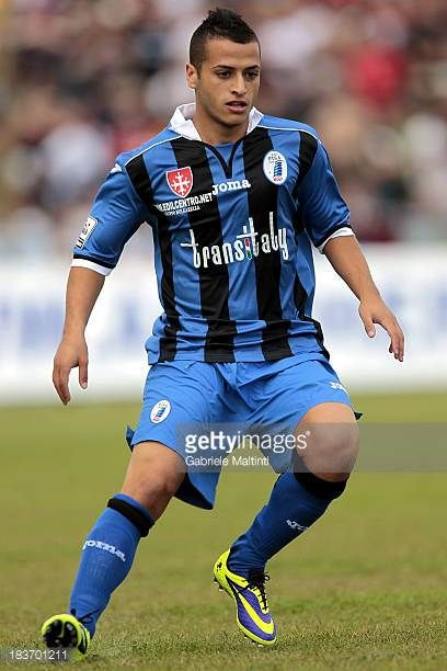 Giuseppe Giovinco of AC Pisa 1909 in action during the LegaPRO match between AC Pisa 1909 and US Pontedera on October 6 2013 in Pisa Italy