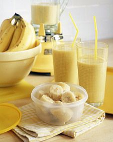 Got overripe bananas? Don't let them go to waste. Freeze them to use later for refreshing banana smoothies.