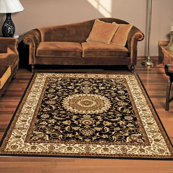 MEDALLION TRADITIONAL FLOOR RUGS WITH BORDER