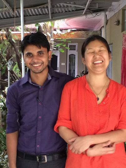 Ayaz, our tailoring manager, and Tsering, our production manager share a joke at our Himalayan Tailoring Centre! You can meet our staff and take a 'virtual' tour of our little Fair Trade factory here: http://www.eternalcreation.com/pages/himalaya-tailoring-centre