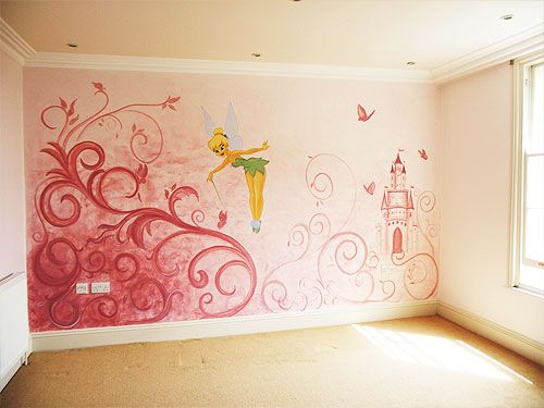 15 best images about disney wall on pinterest disney for Fairy wall mural