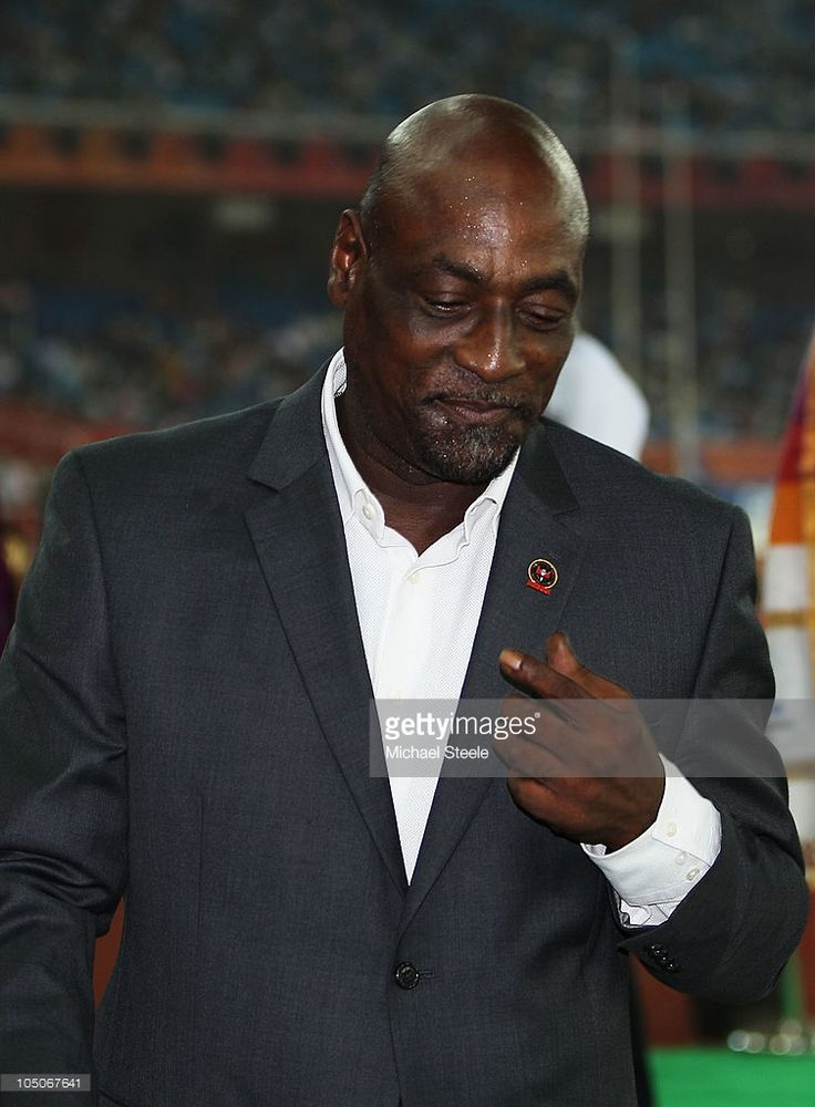 Former West Indian cricketer Sir Viv Richards attends the medal ceremony for the women's 1500 metres during day five of the Delhi 2010 Commonwealth Games at the Jawaharlal Nehru Stadium on October 8, 2010 in Delhi, India.
