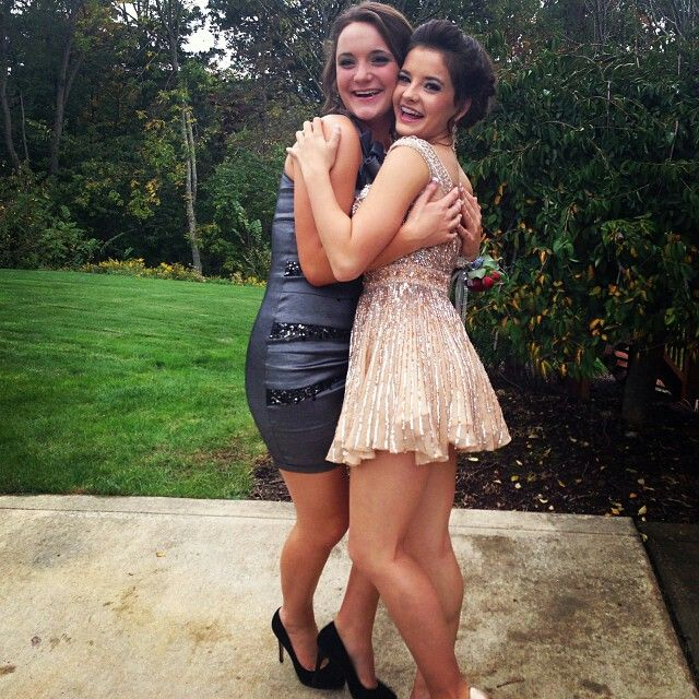 Proms in an hour my friends are showing up at my house to get ready. I'm already ready along with Meghan (the girl in the picture with Brooke) can't wait till the boys come ~Raylynn