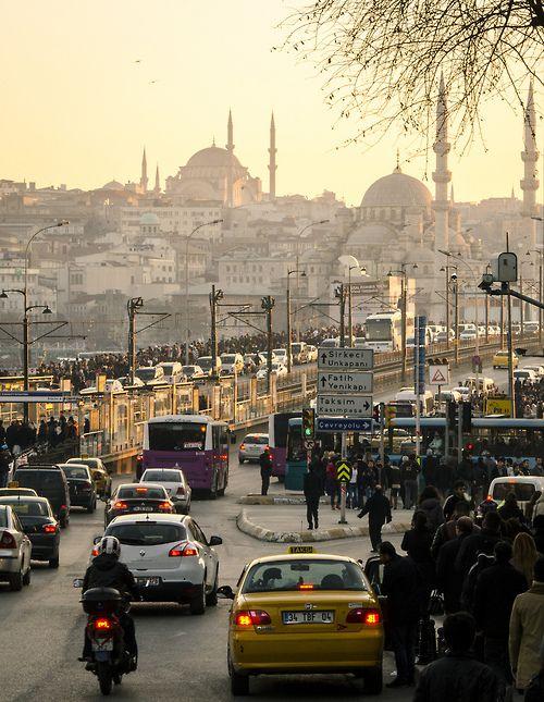 The Galata Bridge, Turkey  (by CarolynEaton)
