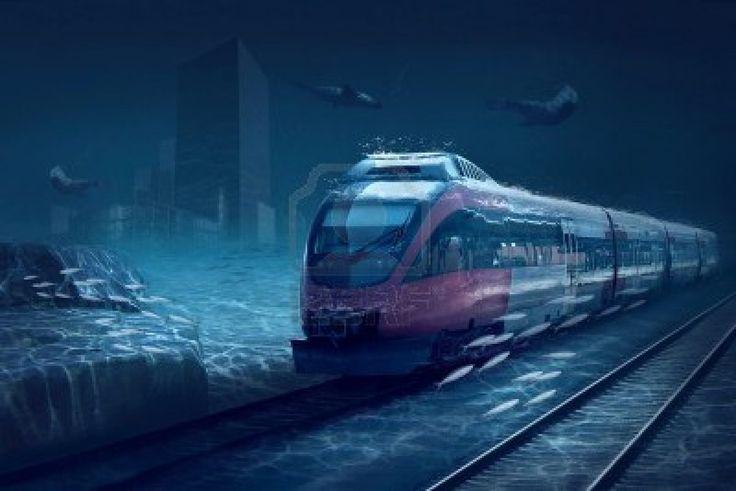 Under Water train in Venice