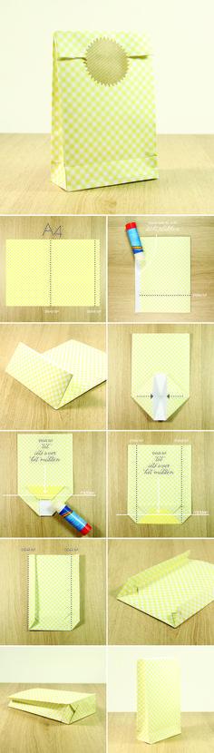 Tutorial: fold a giftbag   NinaPaperStories