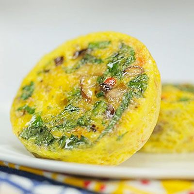 Make these individual veggie frittatas on Sunday night for an easy, low-calorie breakfast you can eat during the week.