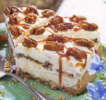 Peach-pecan Ice Cream Pie with Caramel SaucePeachpecan Ice, Caramel Sauces Recipe, Pies Recipe, Bon Appetit, Peaches Pecans Ice, Tarts Recipe, Pecans Pies, Cooking Tips, Ice Cream Pies