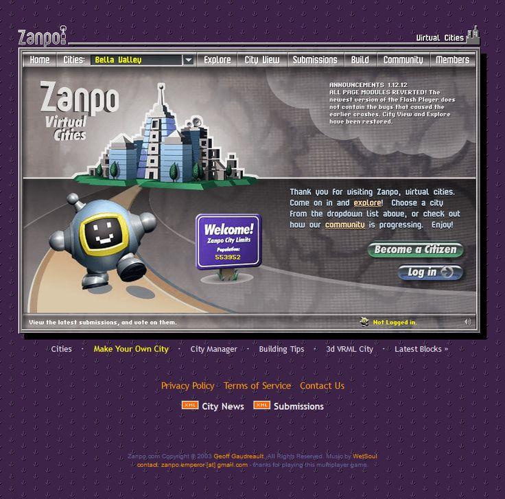 Zanpo website in 2002