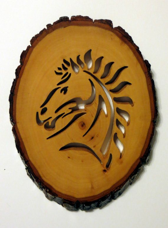 Horse Head Scrollsaw on Basswood Round by susanandlarry on Etsy, $20.00