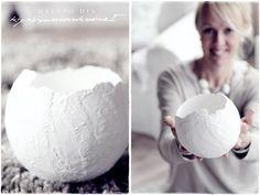 DIY large eggshell (pot) - Vaaleanpunainen hirsitalo | Divaaniblogit