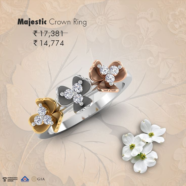 Because the princess within her deserves a Majestic 'crown' Ring…