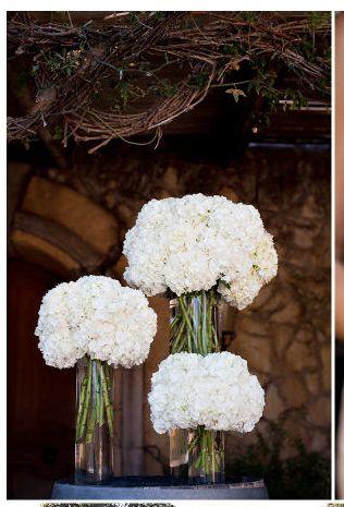 Buffet idée n°2 : trio grand bouquets hortensia (couleur au choix, mixe possible)
