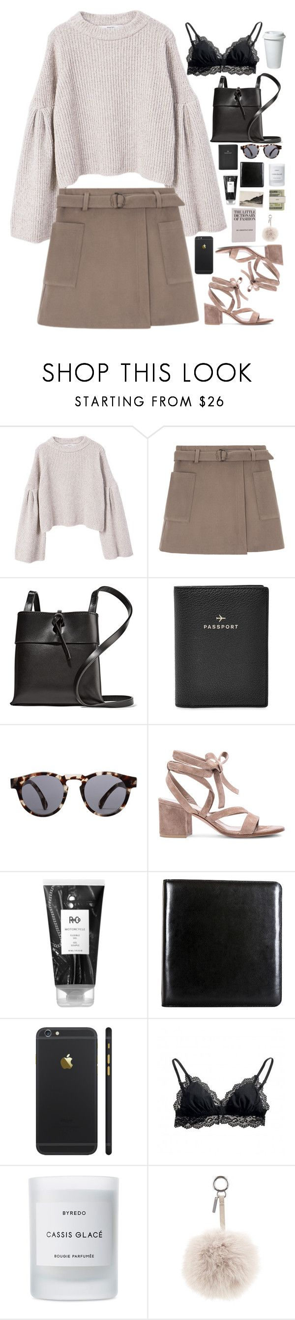 """""""Untitled #2958"""" by wtf-towear ❤ liked on Polyvore featuring MANGO, Kara, FOSSIL, Illesteva, Gianvito Rossi, R+Co, Bosca, Cosabella, Byredo and Jack Spade"""