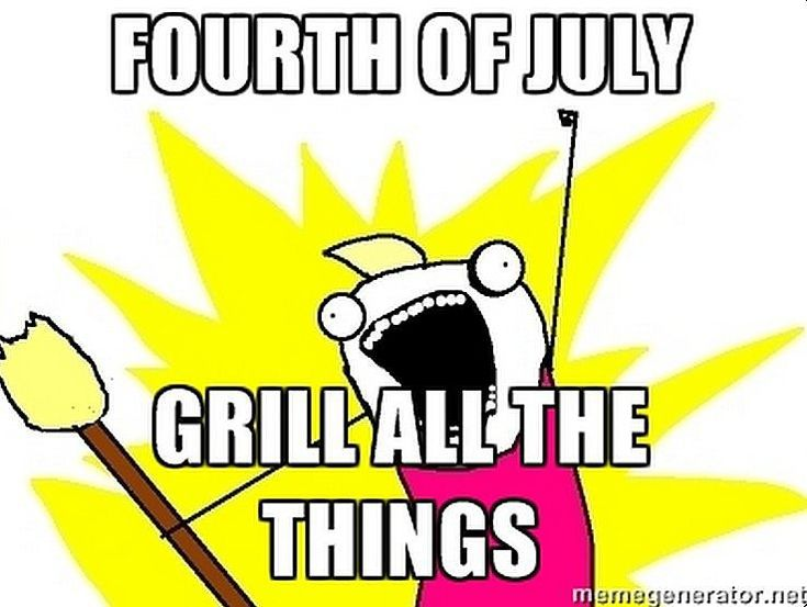 This is my family. Grill the pasta salad!