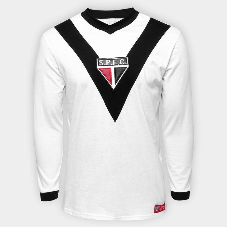 Camisa São Paulo Goleiro Retrô SPFC 1930 Manga Longa - Branco