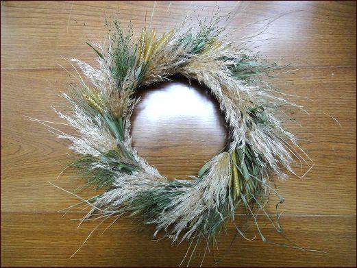 野の草をリースに<norikoさんのリース> - 座敷わらし犬とうさぎガーデン