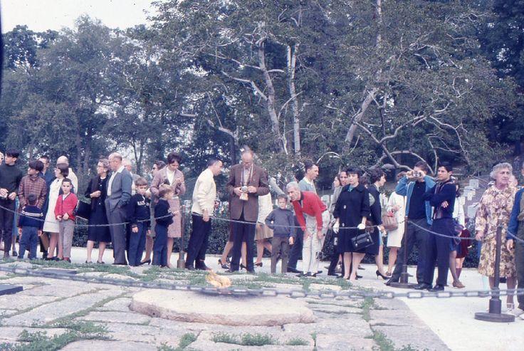 John F Kennedy Memorial Photos Arlington Cemetery 1967 Washington DC 35mm Slides
