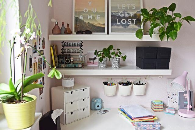 interior teenager m dchen zimmer schreibtisch deko jugendzimmer. Black Bedroom Furniture Sets. Home Design Ideas