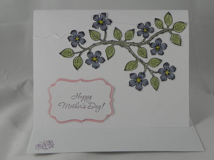 Mother's Day Birds and Blooms Hand Stamped Card Heartfelt Creations Stampin' Up! by HandCraftedBy2 on Etsy
