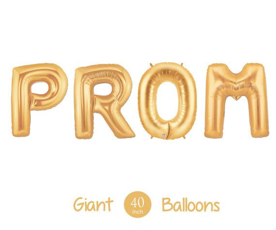 Giant PROM Balloons   40 Inch Gold Mylar by ChrissyBPartyShop