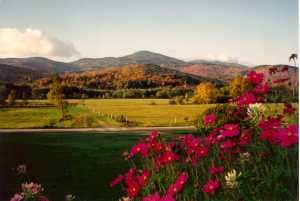 View from Philbrook Farm Inn, White Mountains, NH
