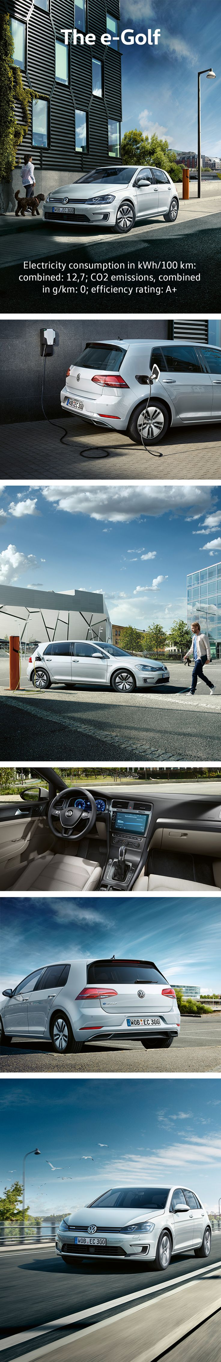 The new Volkswagen e-Golf is the not only perfect for short journeys in urban areas, this purely electric powertrain is the ideal mobility solution – and with a range of 300 km*, you can also leave the city behind. Thanks to its e-design and the aerodynamic optimisations this electric vehicle has a unique flair.  * Stated range determined during driving cycles pursuant to the New European Driving Cycle (NEDC) on dynamometers. The actual range differs therefrom under real-life driving…