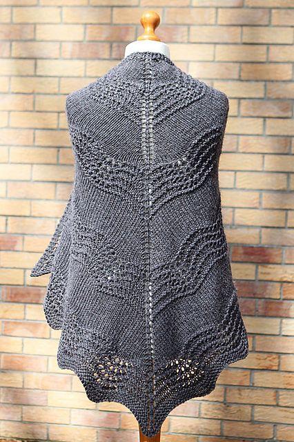 Old Shale Shawl Free Pattern By Amanda Clark Knit In