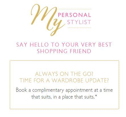 Oasis introduce personal stylists - book online