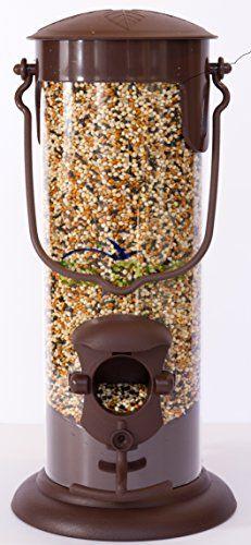Squirrel Proof Hanging Bird Feeder Wild Birds Seed 2-Station Feeding Garden Patio