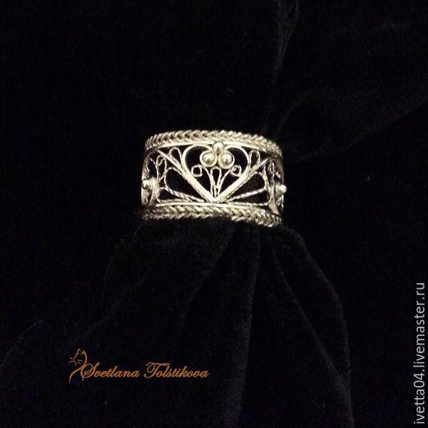 """Серебряное кольцо """"Love you..."""" в технике филигрань. filigree jewelry"""