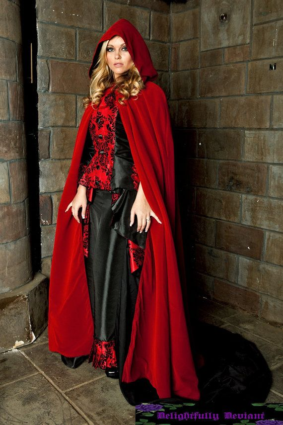 Fire Red Velvet Cloak by DelightfullyDeviant on Etsy, $249.00
