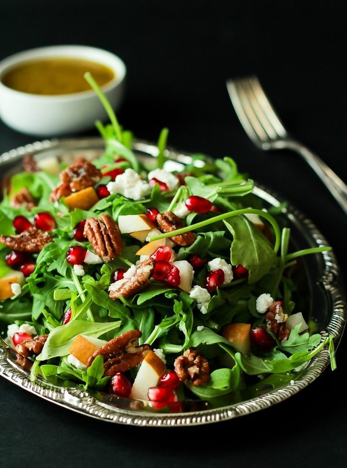 Candied pecans, Arugula salad and Seasons on Pinterest