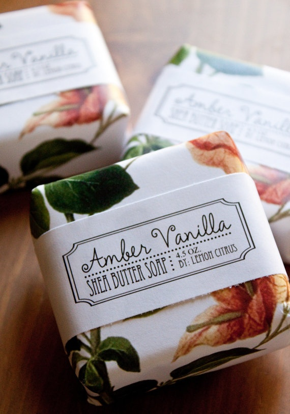 Amber Vanilla Shea Butter Soap by Lemon Citrus #design #packaging