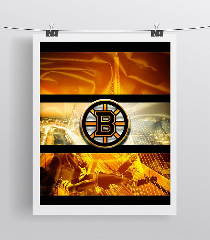 Boston Bruins Hockey Poster, Boston Bruins Hockey Print Bruins Gift, Man Cave