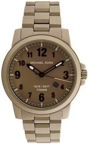 7c534e2eb4b2 Michael Kors Men s Paxton MK8534 Dark Grey Titanium Quartz Dress Watch