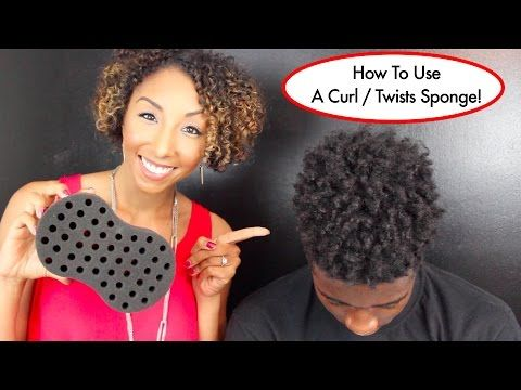 How To Use A Curl / Twists Sponge, Tutorial For Long Natural Hair | BiancaReneeToday - YouTube