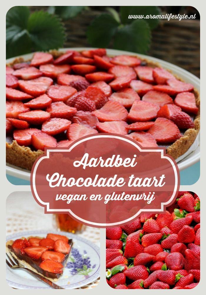 Een heerlijke fris zoete aardbei chocolade taart die vegan en glutenvrij is. Om de taart te maken met dit makkelijke recept heb je niet veel nodig.