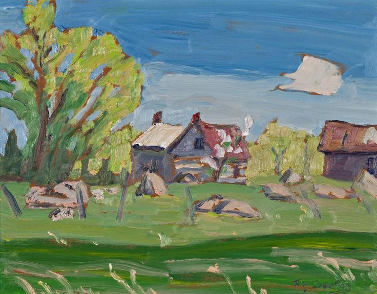 Ralph Wallace Burton - Old Log House Kars 10.5 x 13.5 Oil on panel (1979)