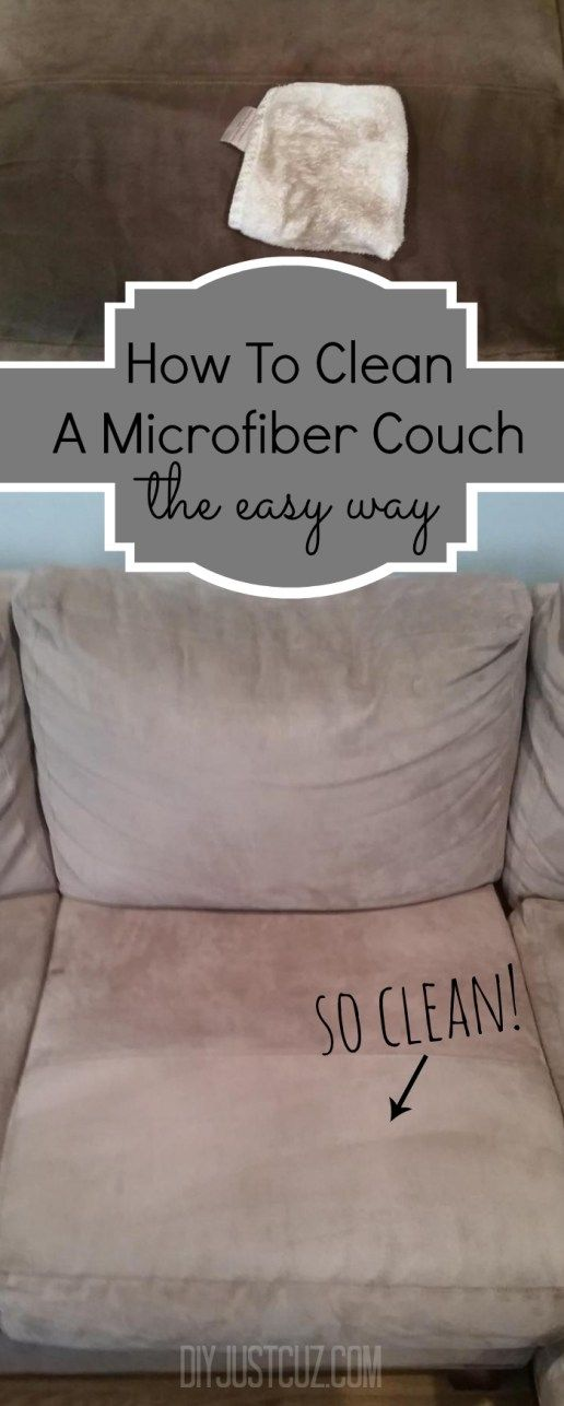 The best thing about a microfiber couch is how easily they can be cleaned. Read tips on easily cleaning water stains on a microfiber couch! @diyjustcuz