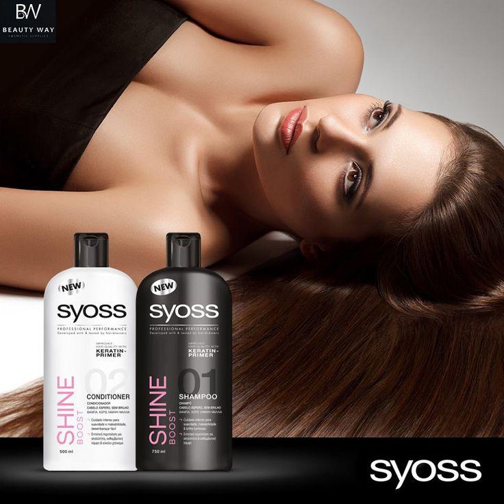 Την Άνοιξη δεν λάμπει μόνο ο ήλιος… Χρησιμοποιήστε τη σειρά #Syoss Shine Boost για εντυπωσιακή λάμψη μεγάλης διάρκειας στα μαλλιά σας! [http://goo.gl/NwqiWt]