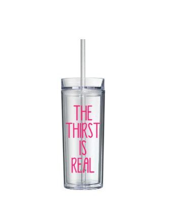 Custom Water Bottle, The Thirst Is Real, FREE SHIPPING, Personalized Water Bottle, Fitness Water Bottle, 21st Birthday Gift for Her