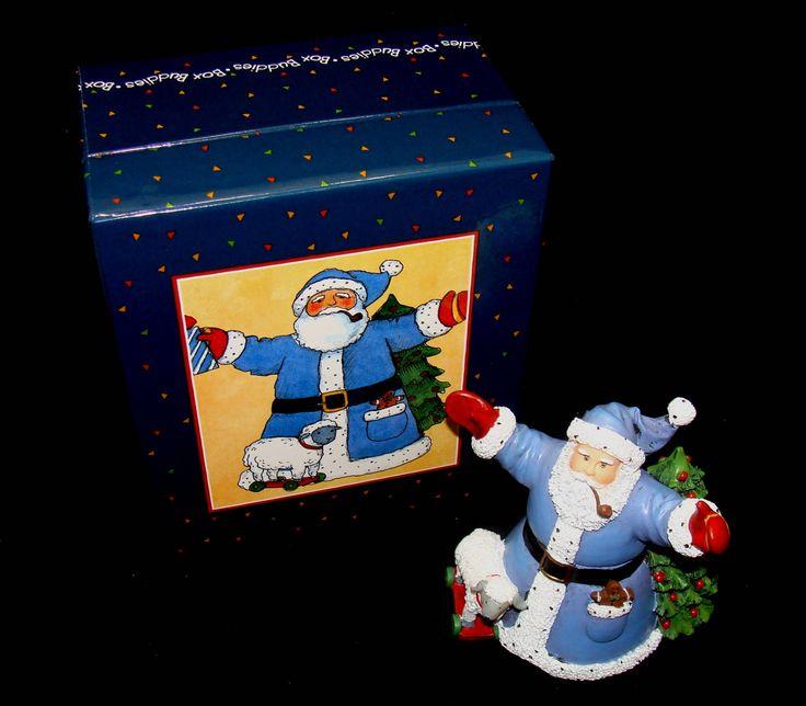 Vintage susan winget santa - santa figurine - box buddies santa figurine-Christmas in july by BECKSRELICS on Etsy