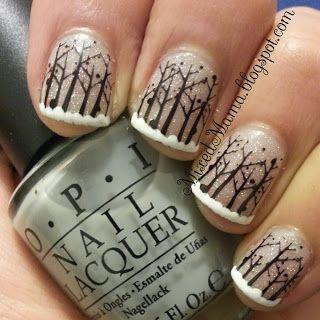Winter Wonderland Nails - MixedMama