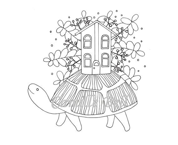 Myrtle The Turtle Coloring Page Adult Coloring Page Download