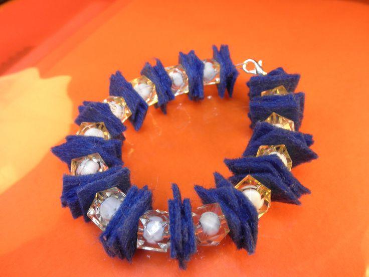 #bracelet #felt #beads #artepovera #handmade #woman #style #fashion
