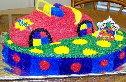 The Wiggles Birthday cake ~ made by Audra